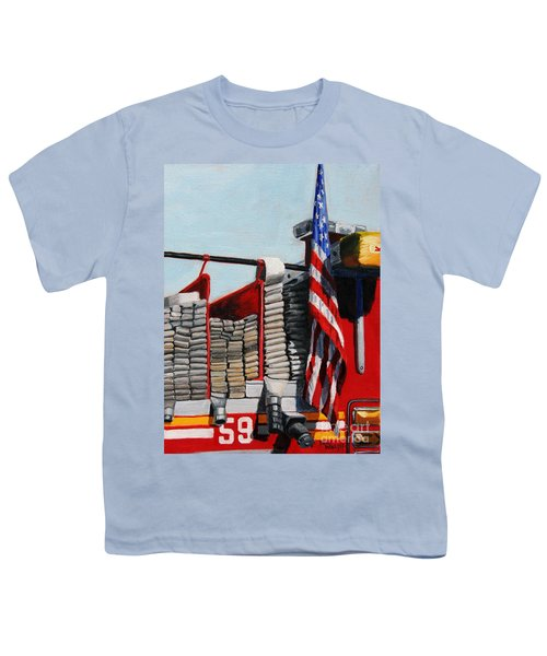 Fdny Engine 59 American Flag Youth T-Shirt