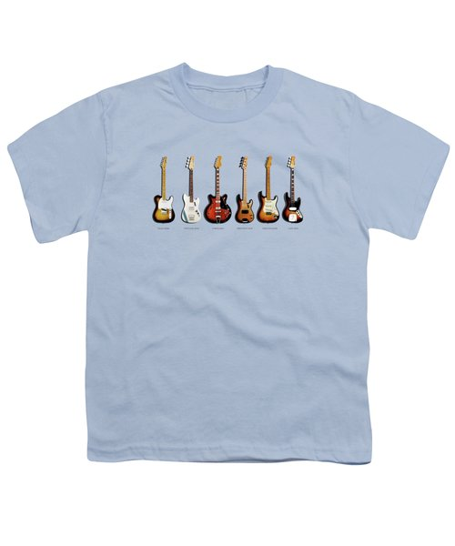 Fender Guitar Collection Youth T-Shirt by Mark Rogan