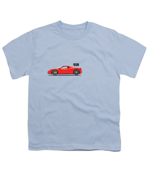 Ferrari 458 Italia Youth T-Shirt by Mark Rogan