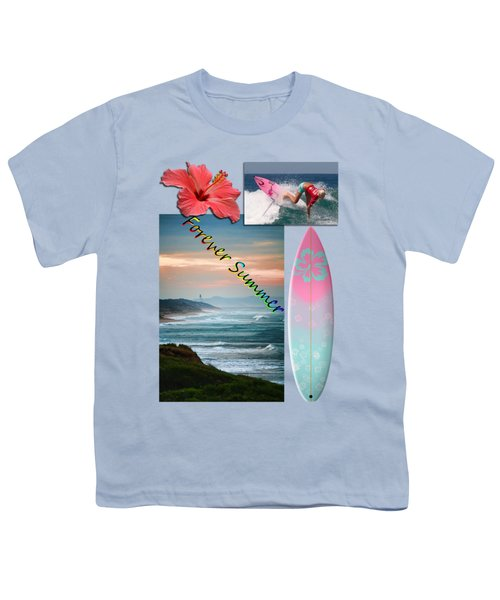 Youth T-Shirt featuring the photograph Forever Summer 5 by Linda Lees