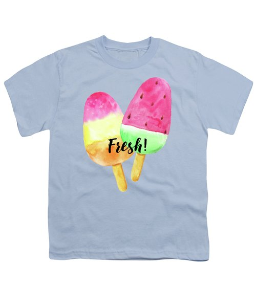Fresh Summer Refreshing Fruit Popsicles Youth T-Shirt by Tina Lavoie