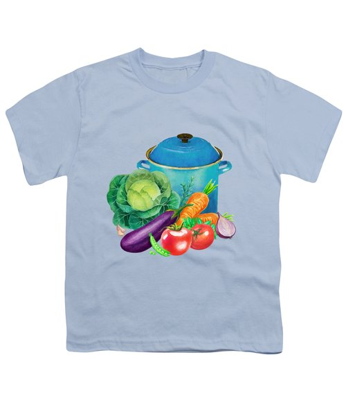 Fresh Vegetable Bounty Youth T-Shirt by Little Bunny Sunshine
