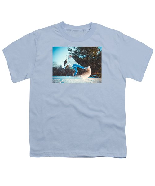 Girl And Snow Youth T-Shirt