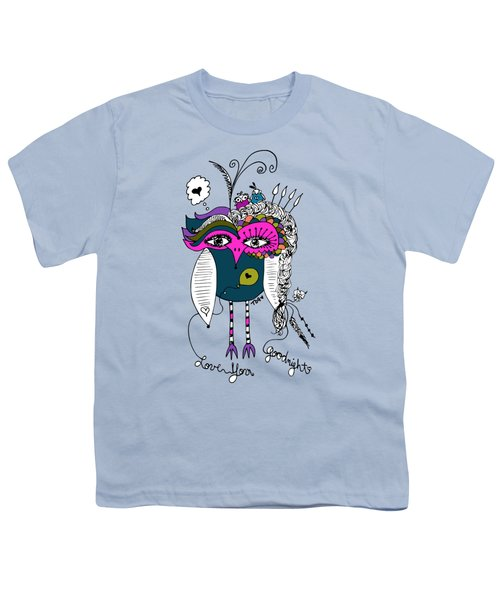 Goodnight Owl Youth T-Shirt by Tara Griffin