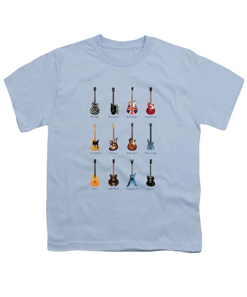 Guitar Icons No3 Youth T-Shirt by Mark Rogan