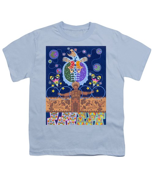 Youth T-Shirt featuring the painting Healing - Nanatawihowin by Chholing Taha