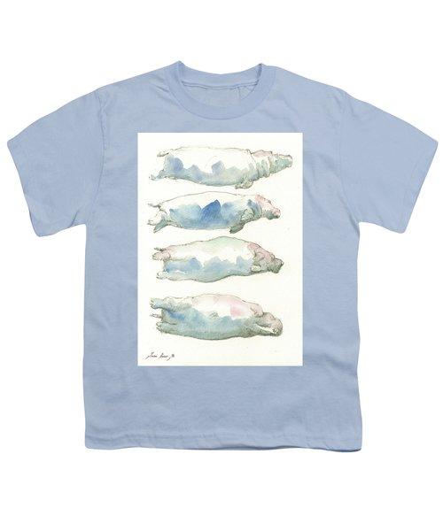 Hippo Swimming Study Youth T-Shirt