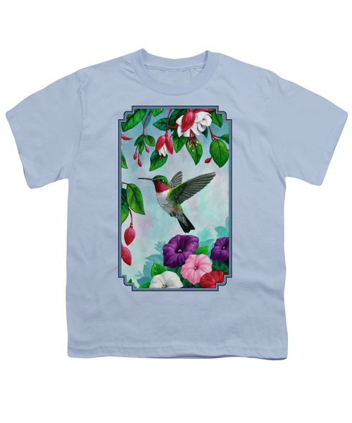 Hummingbird Greeting Card 1 Youth T-Shirt by Crista Forest
