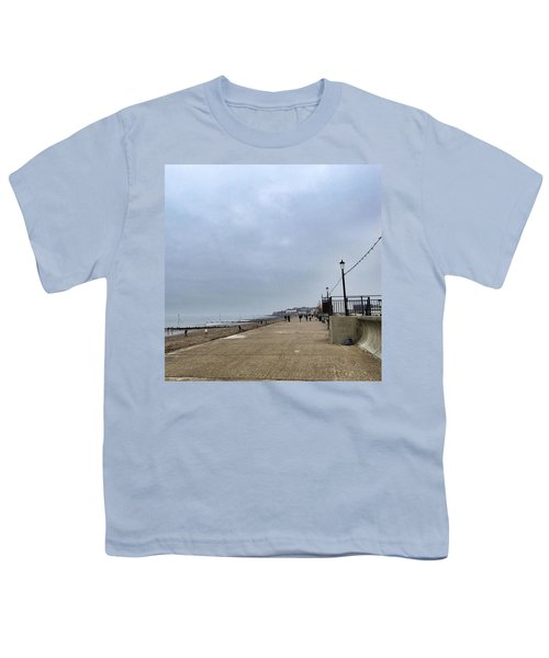 Hunstanton At 4pm Yesterday As The Youth T-Shirt by John Edwards