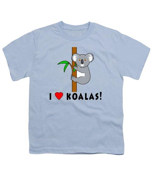 I Love Koalas Youth T-Shirt by A