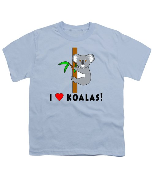 I Love Koalas Youth T-Shirt