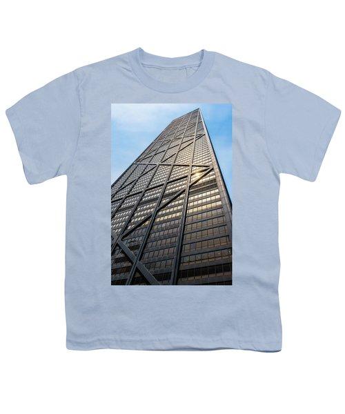 John Hancock Center Chicago Youth T-Shirt by Steve Gadomski