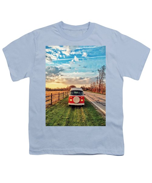 Magic Hour Magic Bus Youth T-Shirt by Andrew Weills