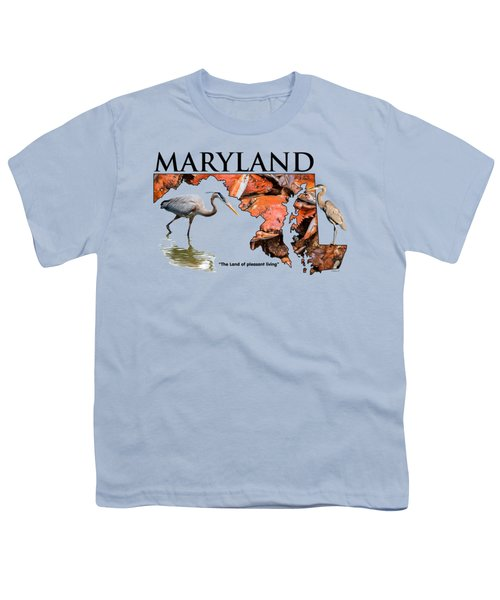 Maryland - The Land Of Pleasant Living Youth T-Shirt