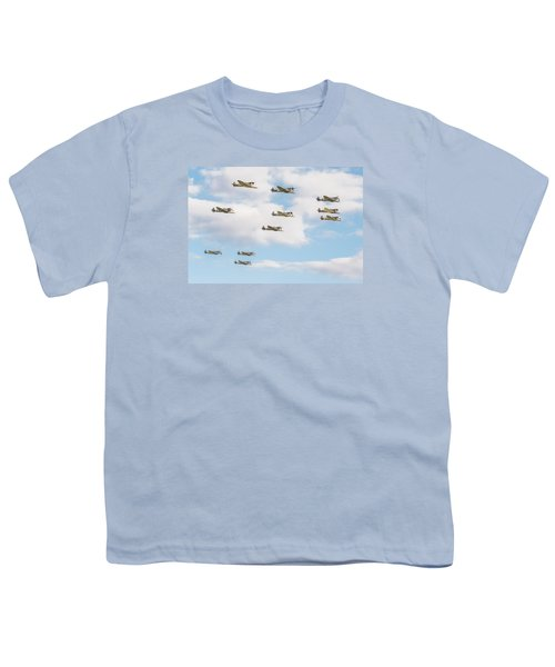 Massed Spitfires Youth T-Shirt by Gary Eason