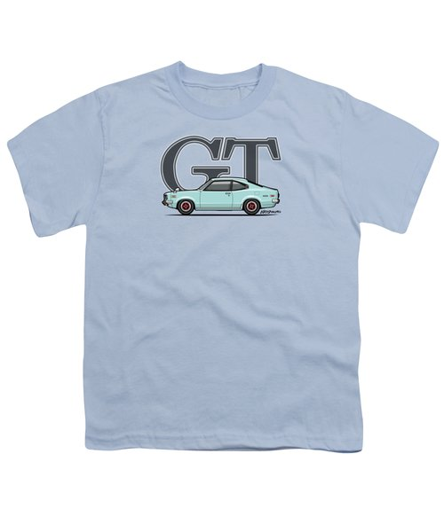 Mazda Savanna Gt Rx-3 Baby Blue Youth T-Shirt by Monkey Crisis On Mars