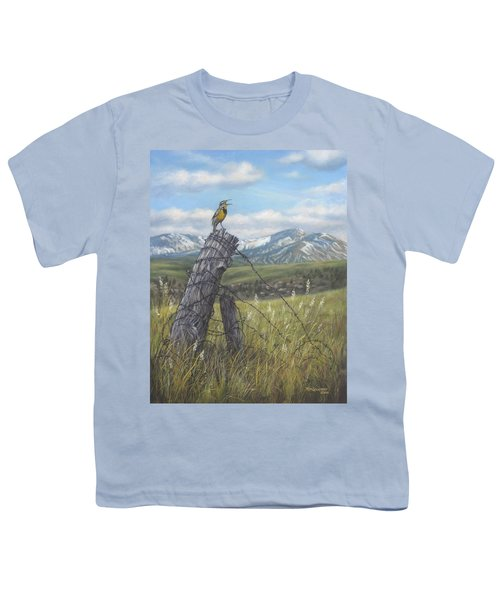 Meadowlark Serenade Youth T-Shirt by Kim Lockman