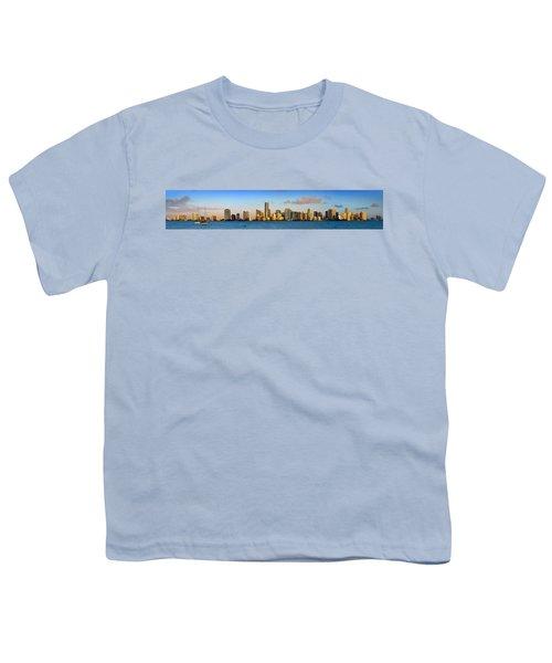 Miami Skyline In Morning Daytime Panorama Youth T-Shirt