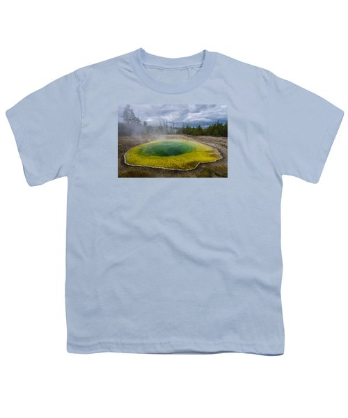 Youth T-Shirt featuring the photograph Morning Glory Pool by Gary Lengyel