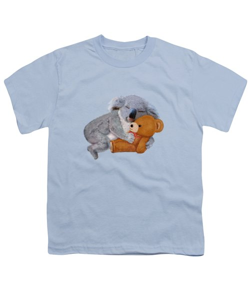 Naptime With Teddy Bear Youth T-Shirt by Glenn Holbrook