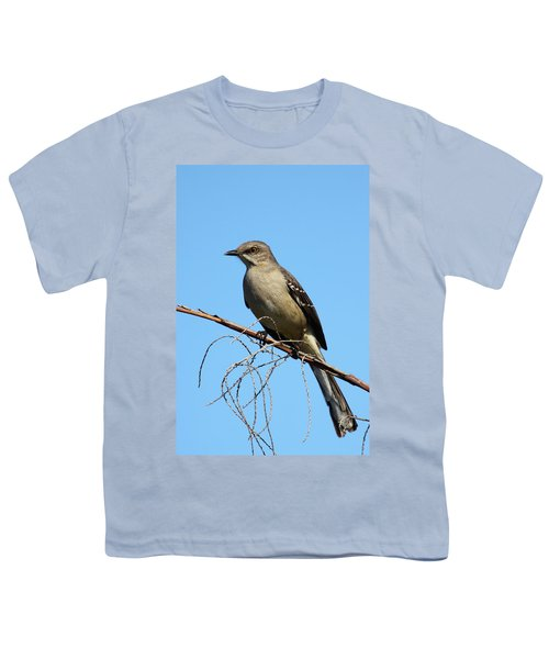 Northern Mockingbird Youth T-Shirt by Bruce J Robinson
