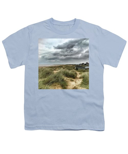 Old Hunstanton Beach, North #norfolk Youth T-Shirt by John Edwards