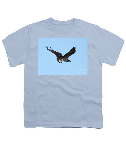 Osprey With Fish Youth T-Shirt by Carol Groenen