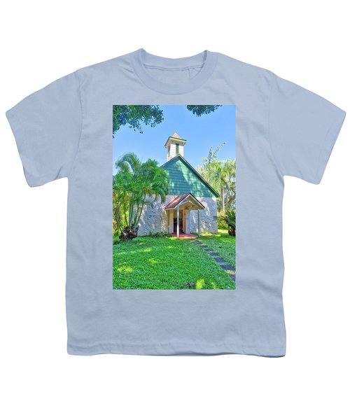 Youth T-Shirt featuring the photograph Palapala Ho'omau Congregational Church by Jim Thompson