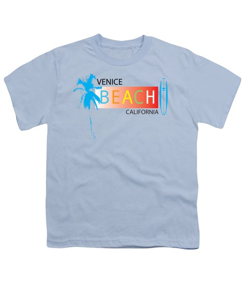 Venice Beach California T-shirts And More Youth T-Shirt by K D Graves