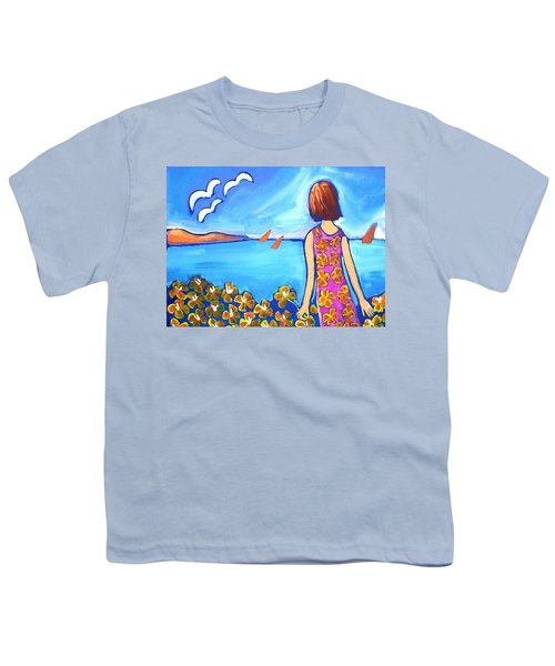 Youth T-Shirt featuring the painting Remembering Joy by Winsome Gunning