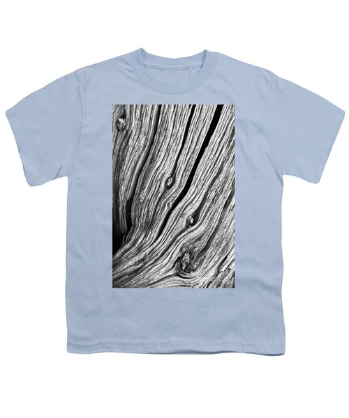 Youth T-Shirt featuring the photograph Ridges - Bw by Werner Padarin