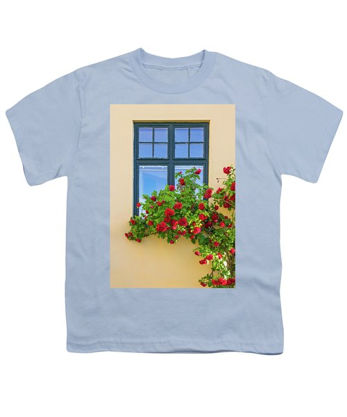 Roses Decorating A House Youth T-Shirt