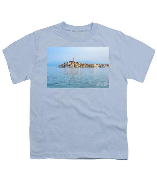 Rovinj In The Early Morning Fog, Istria, Croatia Youth T-Shirt