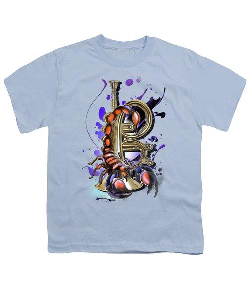 Scorpio Youth T-Shirt by Melanie D