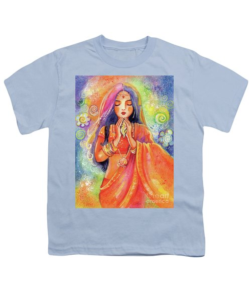 Youth T-Shirt featuring the painting Seashell Wish by Eva Campbell