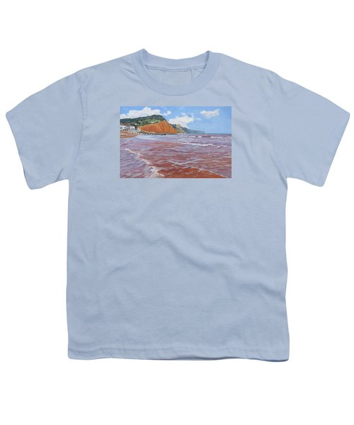 Youth T-Shirt featuring the painting Sidmouth by Lawrence Dyer