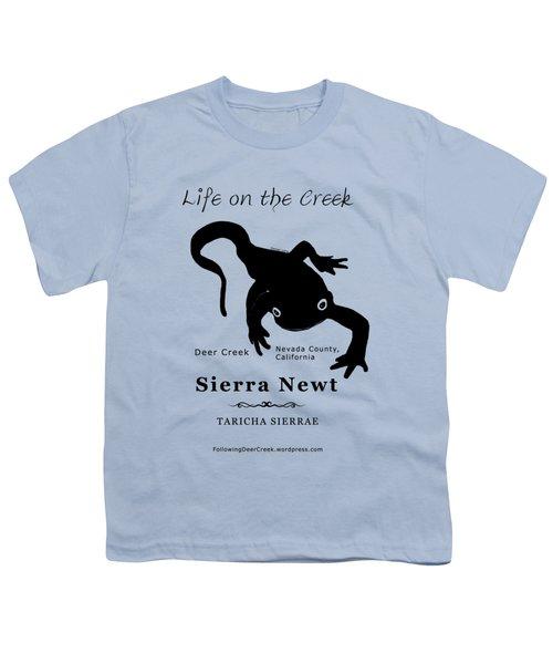 Sierra Newt - Black Youth T-Shirt by Lisa Redfern