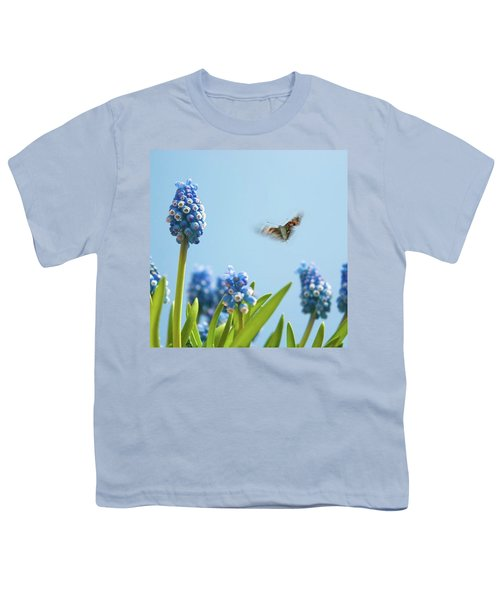 Something In The Air: Peacock Youth T-Shirt by John Edwards