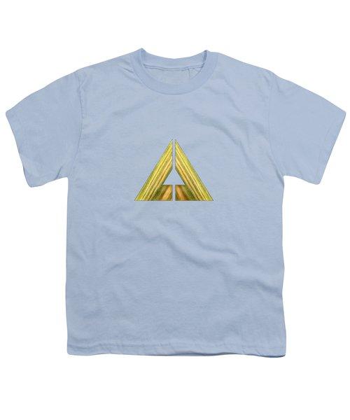 Split Triangle Green Youth T-Shirt