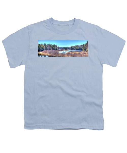 Youth T-Shirt featuring the photograph Spring Scene At The Tobie Trail Bridge by David Patterson