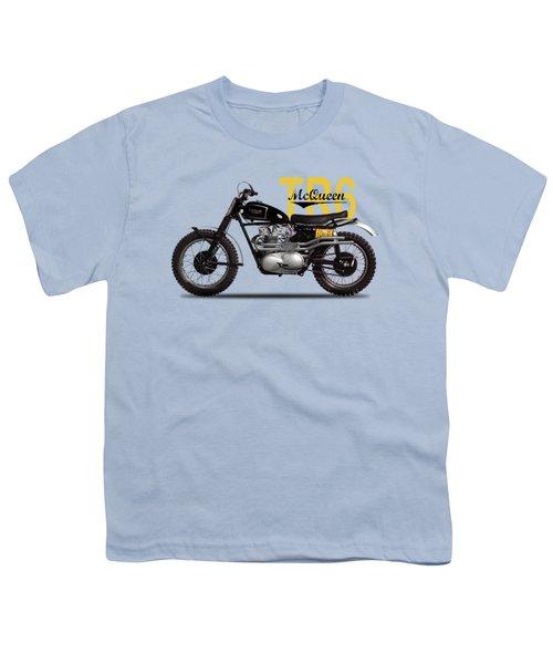 Steve Mcqueen Desert Racer Youth T-Shirt by Mark Rogan