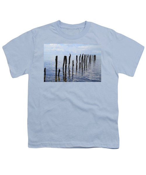 Youth T-Shirt featuring the photograph Sticks Out To Sea by Stephen Mitchell