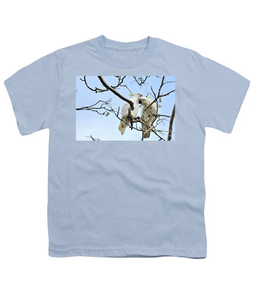 Sulphur Crested Cockatoos Youth T-Shirt by Kaye Menner