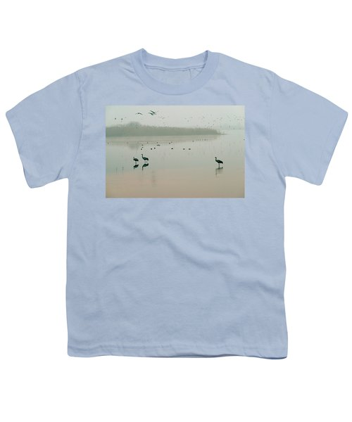 Youth T-Shirt featuring the photograph Sunrise Over The Hula Valley Israel 2 by Dubi Roman