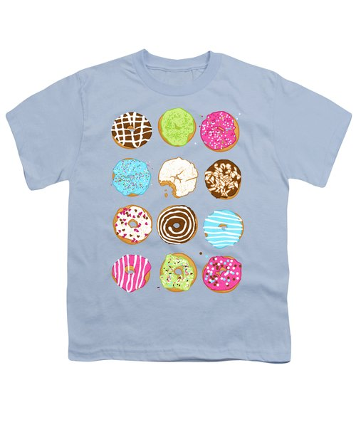 Sweet Donuts Youth T-Shirt by Evgenia Chuvardina