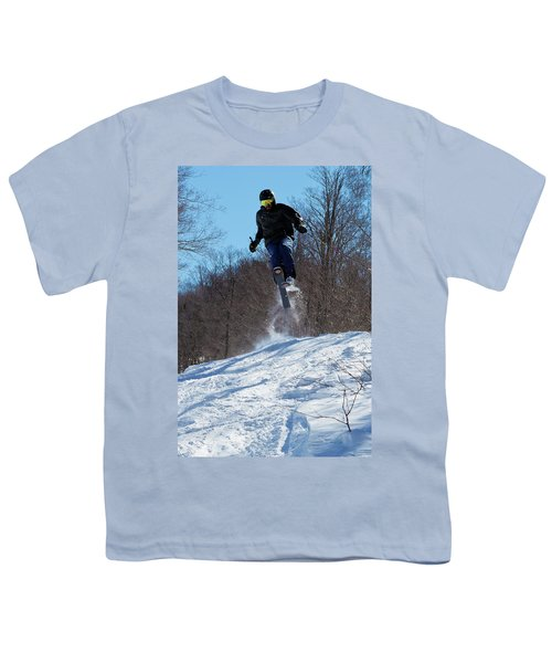 Youth T-Shirt featuring the photograph Taking Air On Mccauley Mountain by David Patterson