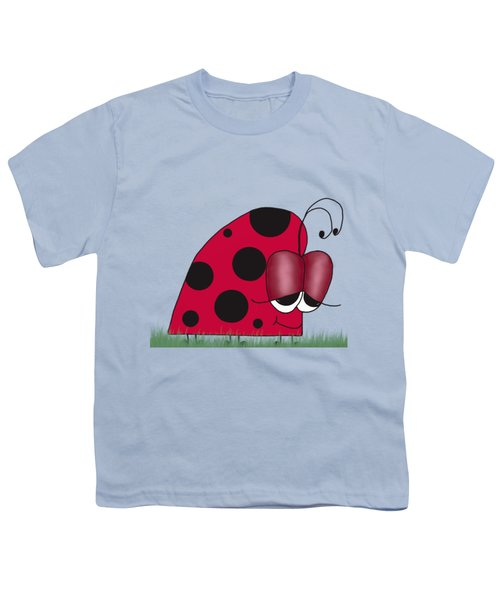 The Euphoric Ladybug Youth T-Shirt by Michelle Brenmark