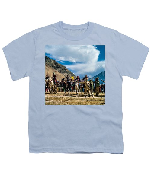 The Race, Zanskar, India Youth T-Shirt