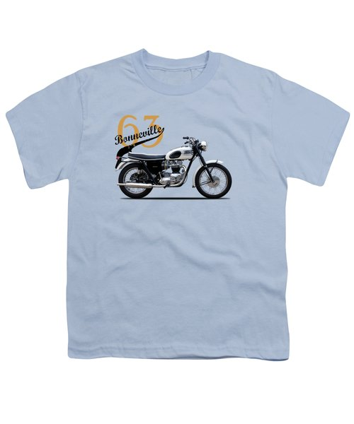 Triumph Bonneville 1963 Youth T-Shirt by Mark Rogan