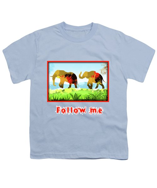 Walk With Me Youth T-Shirt by Anthony Mwangi